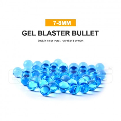 10,000pcs 7-8mm Water Gel Ball Blue / Orange Standard Balls