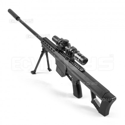92cm Barrett Sniper Gel Blaster Kid's Toy - Manual (Black)